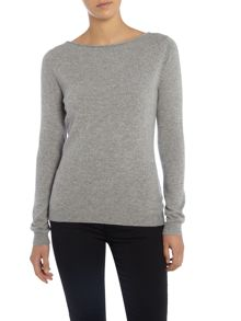 Repeat Cashmere Round neck roll edge jumper