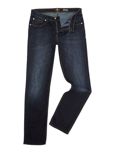 7 For All Mankind Slimmy foolproof avenue dark blue jeans