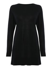 Lauren Ralph Lauren Dejanne knitted tunic with woven layer