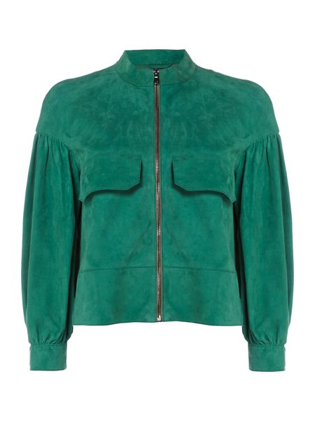 Sportmax Code Suede jacket with bell sleeves