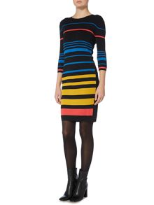 Therapy Nori Sheer Insert Multi Stripe Dress
