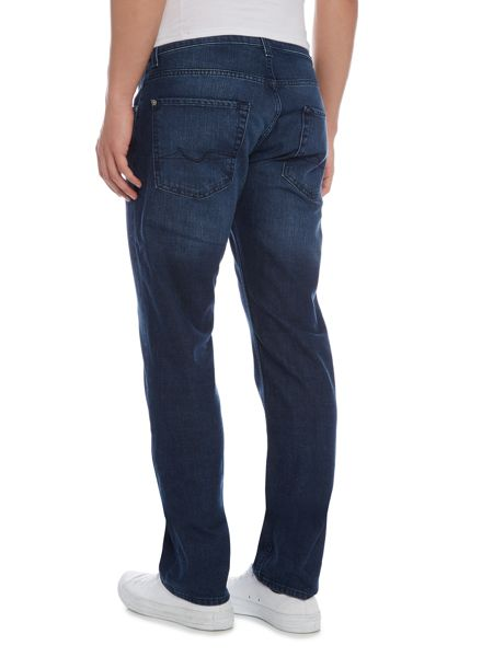 7 For All Mankind The straight imperial avenue dark blue jeans