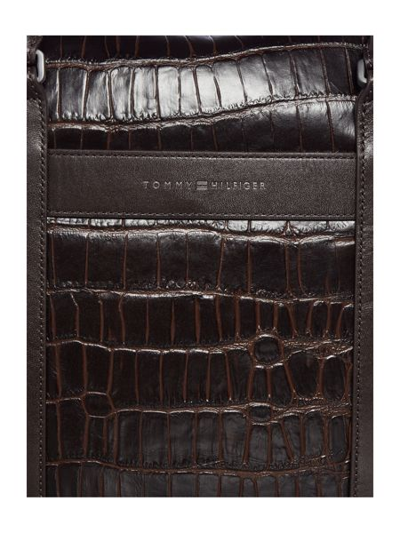Tommy Hilfiger Tailored Mock Croc Large Computer Bag