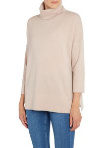 Repeat Cashmere Turtle neck half sleeve jumper