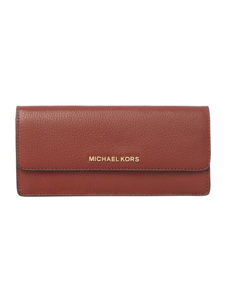 Michael Kors Bedford red flat flap over purse