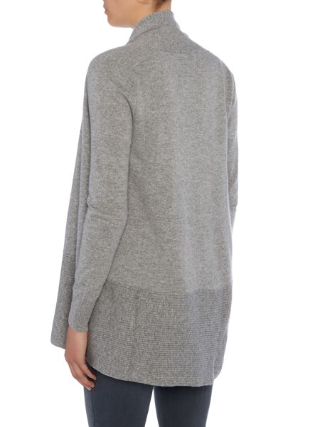 Repeat Cashmere Ribbed buttom open cardigan