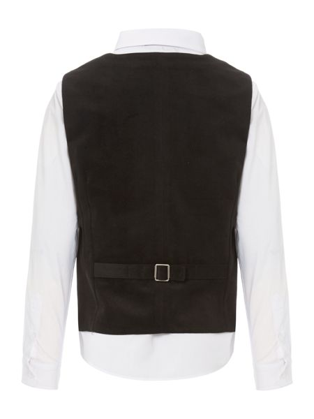 Howick Junior Boys Velvet Waistcoat with Shirt and Bow Tie