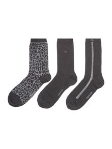 Calvin Klein Holiday 3 pair pack ankle socks gift box