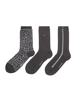 Holiday 3 pair pack ankle socks gift box