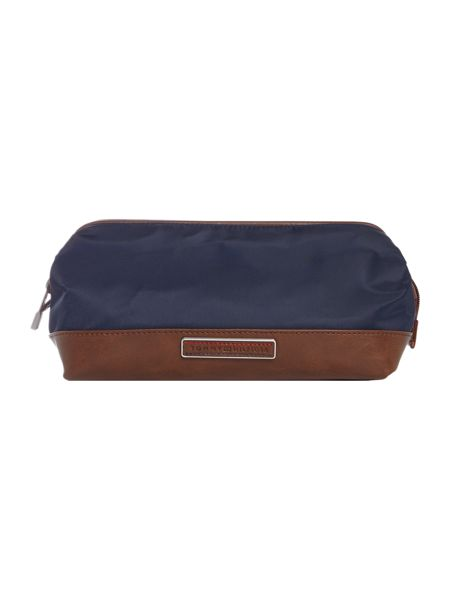 Tommy Hilfiger Half Leather Framed Washbag