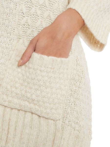 Repeat Cashmere Textured open cardigan