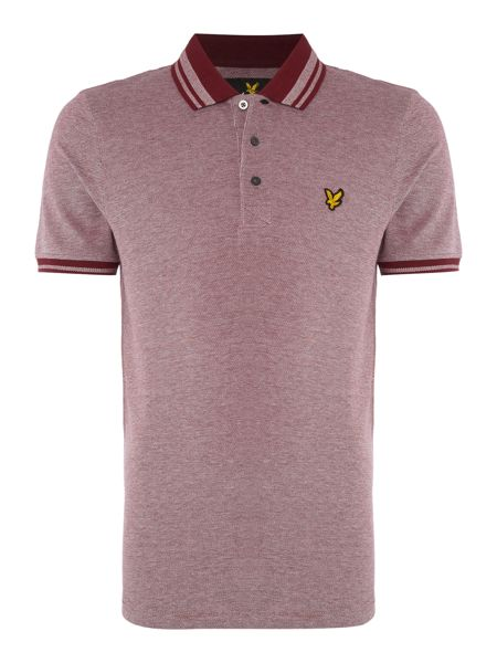Lyle and Scott Short Sleeve Oxford Tipped Collar Polo Shirt