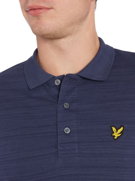 Lyle and Scott Short Sleeve Space Dye Jersey Polo Shirt