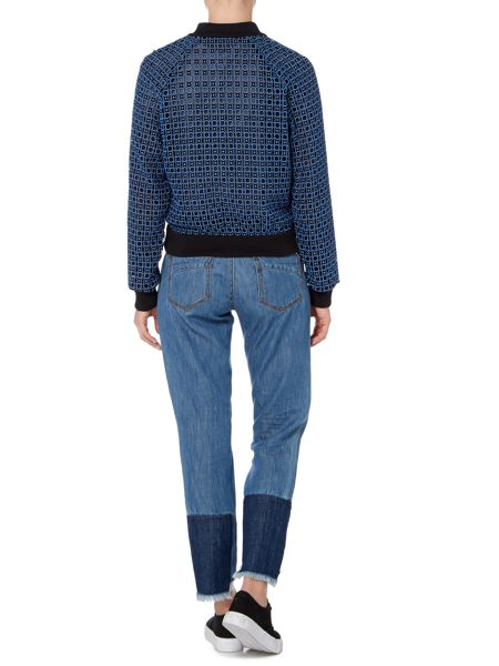 Sportmax Code Crochet bomber jacket with ribbed cuff