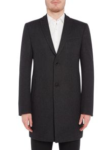 Viggo and Magnus Horsens Peak Lapel Dogtooth Overcoat