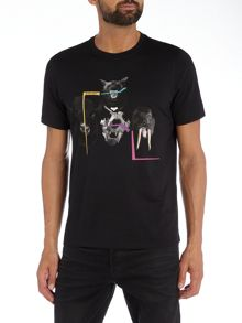 PS By Paul Smith Regular fit animal heads printed t shirt