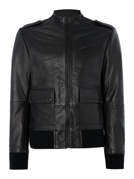 Calvin Klein Major leather moto jacket