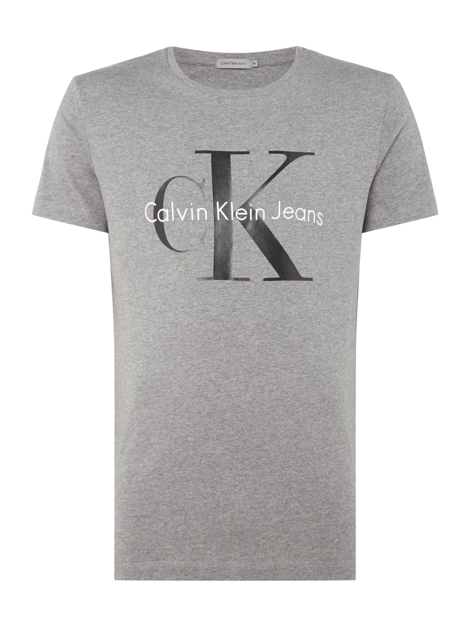 Men's Calvin Klein TEE T-Shirt, Mid Grey