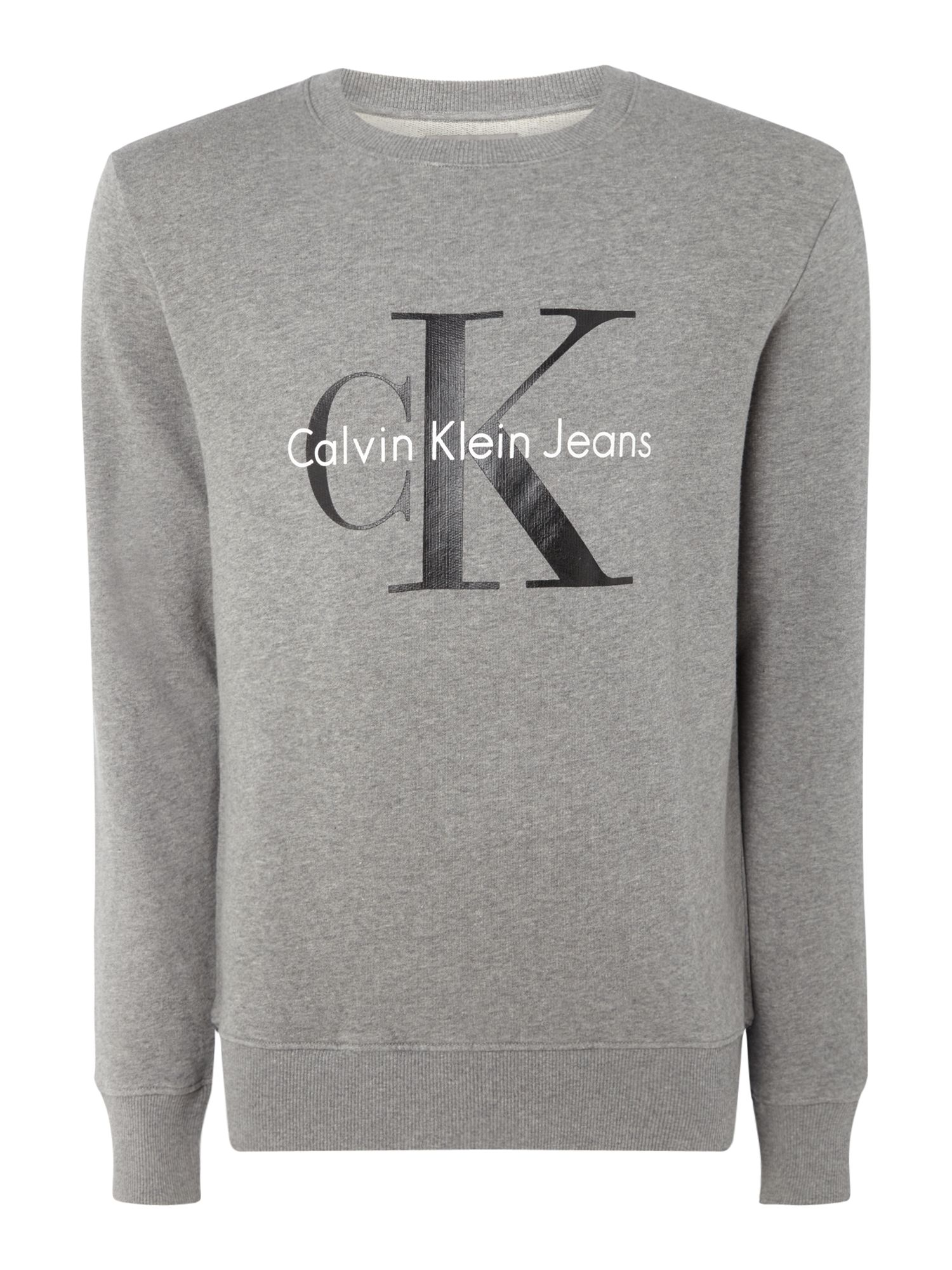 Men's Calvin Klein Crew Neck Sweater, Mid Grey