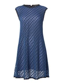 Sportmax Code round neck sleeveless crochet shift dress