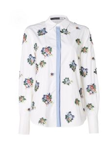 Sportmax Code Longsleeve shirt with embroidered floral pattern
