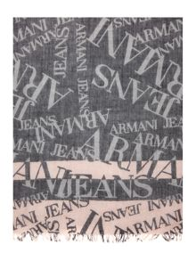 Armani Jeans All over logo printed scarf