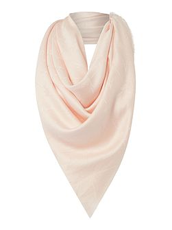 Tone on tone square scarf