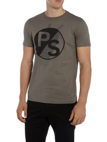 PS By Paul Smith Slim fit peace sign logo print t-shirt