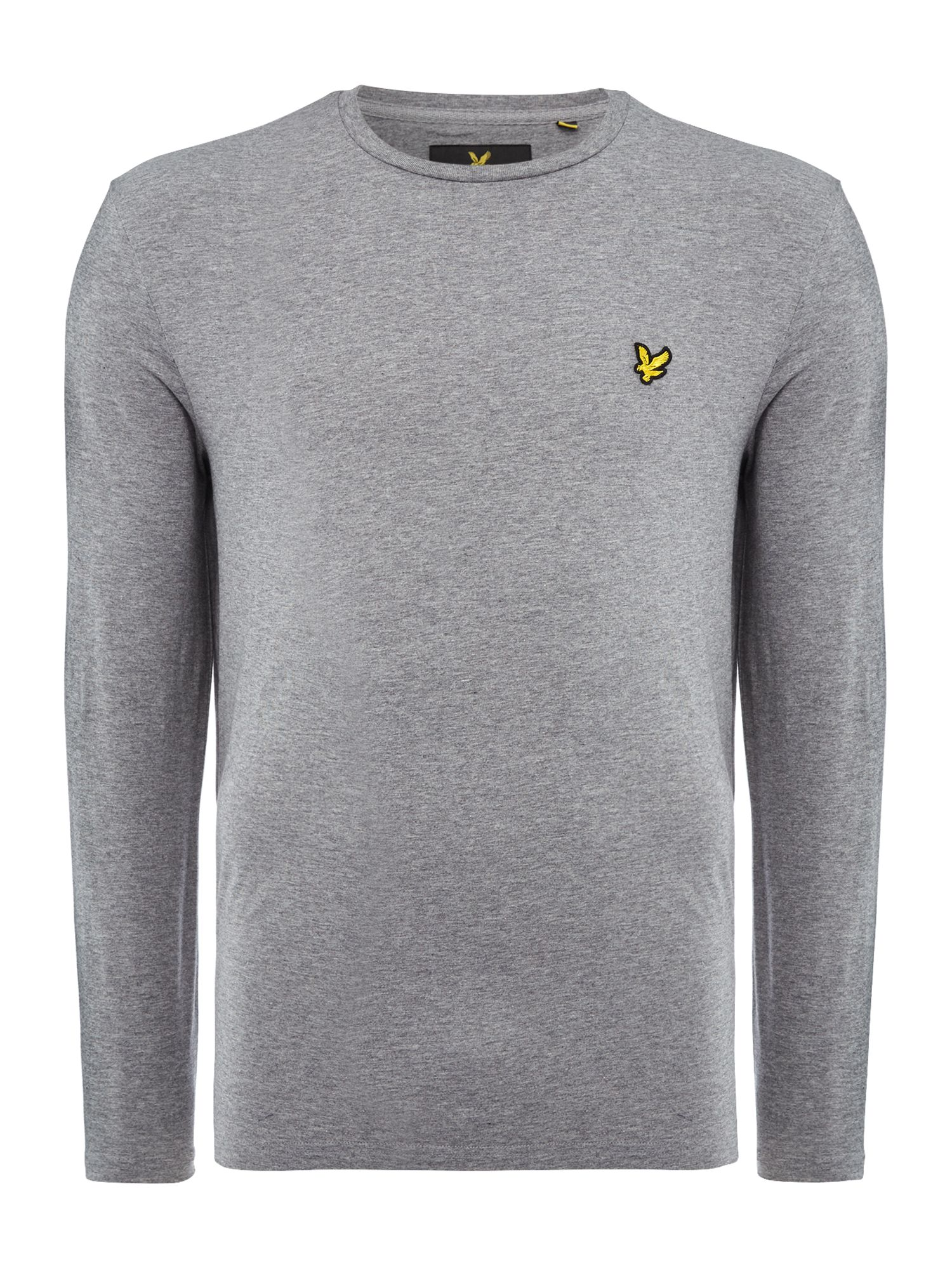 Men's Lyle and Scott Long Sleeve Classic Crew Neck T-Shirt, Mid Grey Marl