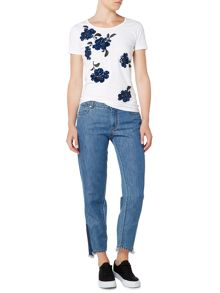 Sportmax Code Slim fit jean with frayed hem
