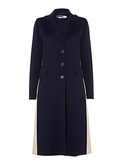 Double faced wool coat with side split