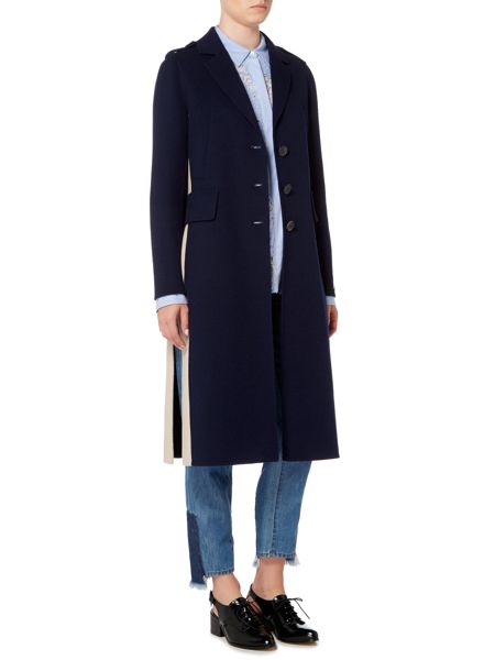 Sportmax Code Double faced wool coat with side split