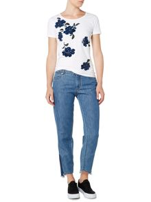 Sportmax Code jersey t-shirt with sequin floral embelishment