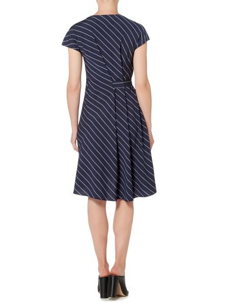 Sportmax Code Pinstripe shift dress with matching fabric belt