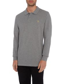 PS By Paul Smith Regular fit zebra logo long-sleeve polo shirt