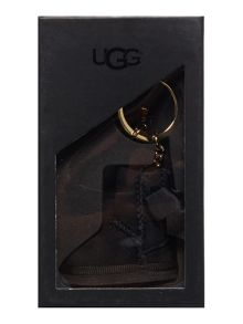 UGG Bailey bow black boot keyring