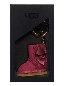 UGG Bailey boot burgundy keyring