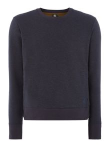 PS By Paul Smith Nylon side detail crew neck sweat top