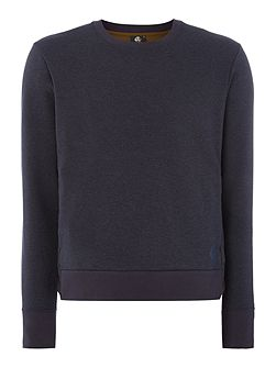 Nylon side detail crew neck sweat top