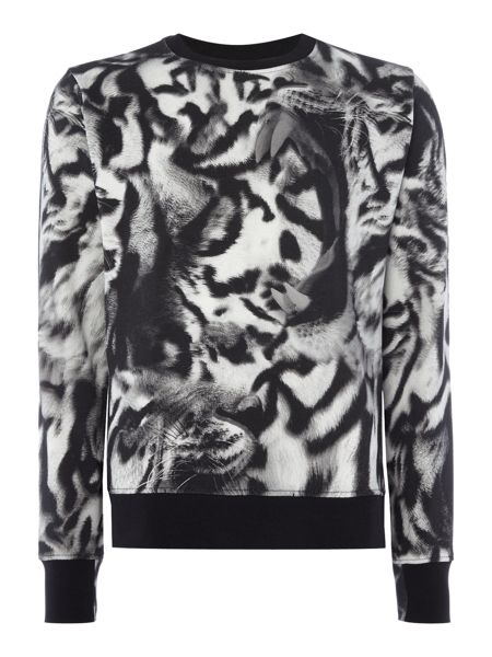 PS By Paul Smith All over tiger printed crew neck sweat top