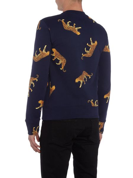 PS By Paul Smith All-over leopard printed crew neck sweat top