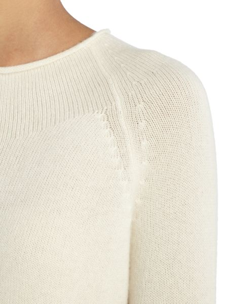 Repeat Cashmere Round edge high neck jumper