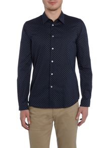 PS By Paul Smith Tailored fit long-sleeve geo printed shirt