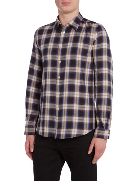 PS By Paul Smith Tailored fit long-sleeve checked shirt