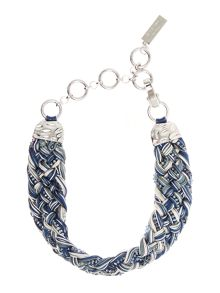 Max Mara POTENTE plaited sparkle necklace