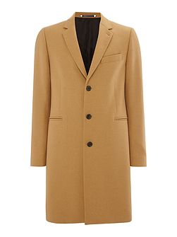 Long-line wool cashmere mix coat