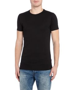 Lindbergh Basic short sleeve rib crew neck tee