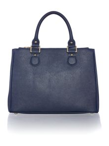 Lamb 1887 Joanna navy tote bag