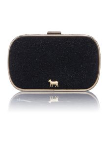 Lamb 1887 Oyster black clutch