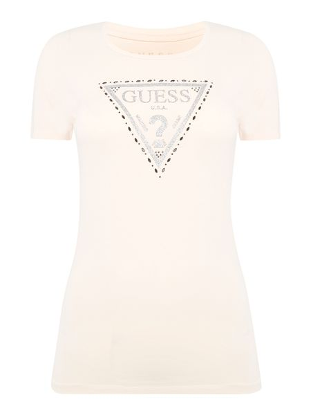 Guess Crew Neck Triangle Logo Tee